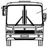 Стекло ветровое ПАЗ-3204 бесцветное левое