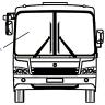 Стекло ветровое ПАЗ-3204 бесцветное правое
