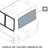Стекло задка ПАЗ-Вектор (1812*887) 320412-05-110-001-5603012-02