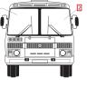 Стекло ветровое ПАЗ-3205 бесцветное левое