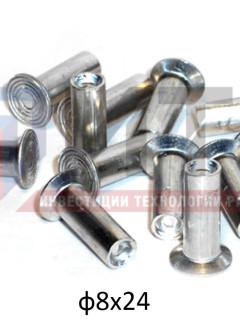 Заклепки алюминиевые ф8х24мм (64шт.), , компл