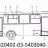 Стекло переднего окна нижнее скошенное ПАЗ 3204 (1086*219)