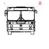 Стекло ветровое ЛИАЗ-5256М бесцветное левое