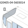 Стекло окна задка 320405-04-5603014