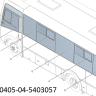Стекло окна боковины №1 заднее левое  320405-04-5403057